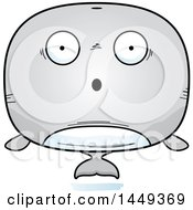 Clipart Graphic Of A Cartoon Surprised Whale Character Mascot Royalty Free Vector Illustration by Cory Thoman