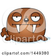 Clipart Graphic Of A Cartoon Bored Walrus Character Mascot Royalty Free Vector Illustration by Cory Thoman