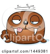Clipart Graphic Of A Cartoon Drunk Walrus Character Mascot Royalty Free Vector Illustration by Cory Thoman
