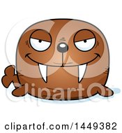 Clipart Graphic Of A Cartoon Evil Walrus Character Mascot Royalty Free Vector Illustration by Cory Thoman