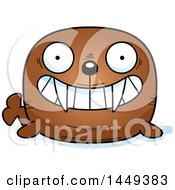 Clipart Graphic Of A Cartoon Grinning Walrus Character Mascot Royalty Free Vector Illustration by Cory Thoman
