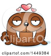 Clipart Graphic Of A Cartoon Loving Walrus Character Mascot Royalty Free Vector Illustration by Cory Thoman