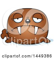 Clipart Graphic Of A Cartoon Sad Walrus Character Mascot Royalty Free Vector Illustration by Cory Thoman