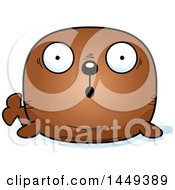 Clipart Graphic Of A Cartoon Surprised Walrus Character Mascot Royalty Free Vector Illustration by Cory Thoman