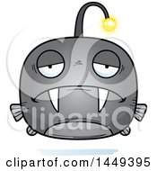 Clipart Graphic Of A Cartoon Sad Viperfish Character Mascot Royalty Free Vector Illustration by Cory Thoman