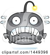 Clipart Graphic Of A Cartoon Scared Viperfish Character Mascot Royalty Free Vector Illustration by Cory Thoman