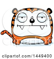 Clipart Graphic Of A Cartoon Bored Tiger Character Mascot Royalty Free Vector Illustration