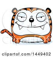 Clipart Graphic Of A Cartoon Evil Tiger Character Mascot Royalty Free Vector Illustration by Cory Thoman