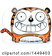 Clipart Graphic Of A Cartoon Grinning Tiger Character Mascot Royalty Free Vector Illustration by Cory Thoman
