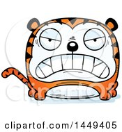 Clipart Graphic Of A Cartoon Mad Tiger Character Mascot Royalty Free Vector Illustration