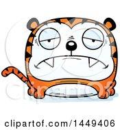 Clipart Graphic Of A Cartoon Sad Tiger Character Mascot Royalty Free Vector Illustration