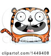 Clipart Graphic Of A Cartoon Happy Tiger Character Mascot Royalty Free Vector Illustration