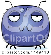 Clipart Graphic Of A Cartoon Bored Tick Character Mascot Royalty Free Vector Illustration by Cory Thoman