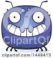 Clipart Graphic Of A Cartoon Grinning Tick Character Mascot Royalty Free Vector Illustration by Cory Thoman