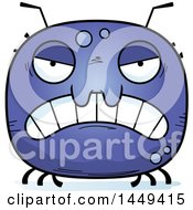 Clipart Graphic Of A Cartoon Mad Tick Character Mascot Royalty Free Vector Illustration by Cory Thoman