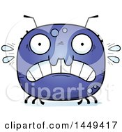Clipart Graphic Of A Cartoon Scared Tick Character Mascot Royalty Free Vector Illustration by Cory Thoman