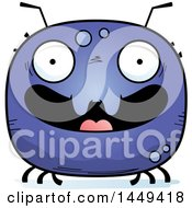 Clipart Graphic Of A Cartoon Happy Tick Character Mascot Royalty Free Vector Illustration