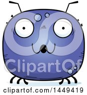 Clipart Graphic Of A Cartoon Surprised Tick Character Mascot Royalty Free Vector Illustration