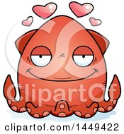 Clipart Graphic Of A Cartoon Loving Squid Character Mascot Royalty Free Vector Illustration by Cory Thoman