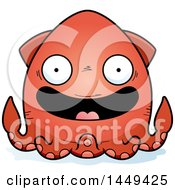 Clipart Graphic Of A Cartoon Happy Squid Character Mascot Royalty Free Vector Illustration by Cory Thoman