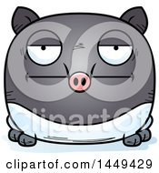 Clipart Graphic Of A Cartoon Bored Tapir Character Mascot Royalty Free Vector Illustration by Cory Thoman