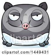 Clipart Graphic Of A Cartoon Evil Tapir Character Mascot Royalty Free Vector Illustration by Cory Thoman