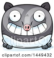 Clipart Graphic Of A Cartoon Grinning Tapir Character Mascot Royalty Free Vector Illustration by Cory Thoman