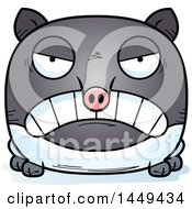 Clipart Graphic Of A Cartoon Mad Tapir Character Mascot Royalty Free Vector Illustration by Cory Thoman