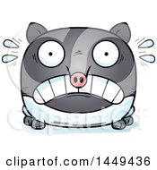 Clipart Graphic Of A Cartoon Scared Tapir Character Mascot Royalty Free Vector Illustration by Cory Thoman