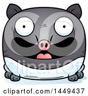Clipart Graphic Of A Cartoon Happy Tapir Character Mascot Royalty Free Vector Illustration by Cory Thoman