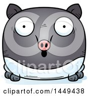 Clipart Graphic Of A Cartoon Surprised Tapir Character Mascot Royalty Free Vector Illustration by Cory Thoman