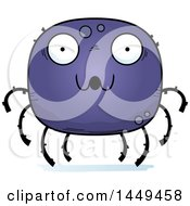 Clipart Graphic Of A Cartoon Surprised Spider Character Mascot Royalty Free Vector Illustration
