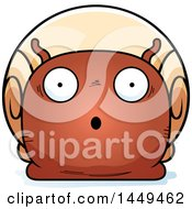 Clipart Graphic Of A Cartoon Surprised Snail Character Mascot Royalty Free Vector Illustration by Cory Thoman