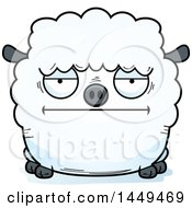 Cartoon Bored Sheep Character Mascot