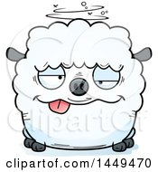Cartoon Drunk Sheep Character Mascot