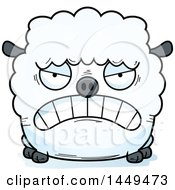 Cartoon Mad Sheep Character Mascot
