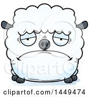 Clipart Graphic Of A Cartoon Sad Sheep Character Mascot Royalty Free Vector Illustration by Cory Thoman