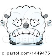 Clipart Graphic Of A Cartoon Scared Sheep Character Mascot Royalty Free Vector Illustration by Cory Thoman