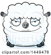 Clipart Graphic Of A Cartoon Sly Sheep Character Mascot Royalty Free Vector Illustration by Cory Thoman