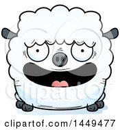 Clipart Graphic Of A Cartoon Happy Sheep Character Mascot Royalty Free Vector Illustration