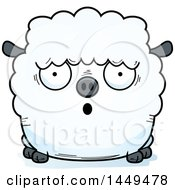 Clipart Graphic Of A Cartoon Surprised Sheep Character Mascot Royalty Free Vector Illustration by Cory Thoman