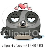 Clipart Graphic Of A Cartoon Loving Seal Character Mascot Royalty Free Vector Illustration