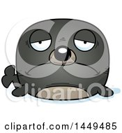 Clipart Graphic Of A Cartoon Sad Seal Character Mascot Royalty Free Vector Illustration by Cory Thoman