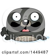 Clipart Graphic Of A Cartoon Happy Seal Character Mascot Royalty Free Vector Illustration