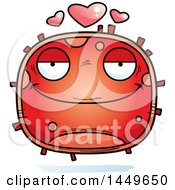 Cartoon Loving Red Cell Character Mascot