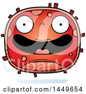 Clipart Graphic Of A Cartoon Happy Red Cell Character Mascot Royalty Free Vector Illustration by Cory Thoman