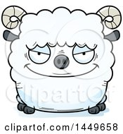 Clipart Graphic Of A Cartoon Evil Ram Sheep Character Mascot Royalty Free Vector Illustration by Cory Thoman