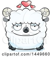 Clipart Graphic Of A Cartoon Loving Ram Sheep Character Mascot Royalty Free Vector Illustration by Cory Thoman