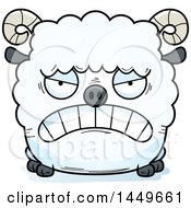 Clipart Graphic Of A Cartoon Mad Ram Sheep Character Mascot Royalty Free Vector Illustration by Cory Thoman
