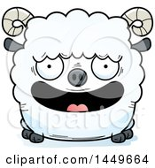 Clipart Graphic Of A Cartoon Happy Ram Sheep Character Mascot Royalty Free Vector Illustration by Cory Thoman